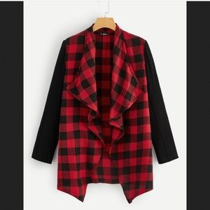 NEW red and black checkered coat